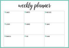 AGENDA SETTIMANALE STAMPABILE   Weekly Planner Printable