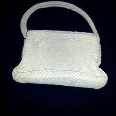 Vintage White Beaded Handmade. Exquisite