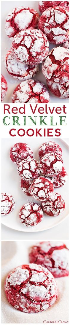 Red Velvet Crinkle Cookies (from scratch) - These cookies are DIVINE!