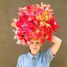 paper flower headpiece