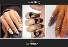 Bom dia! Sabe qual a nova tendência entre as it girls? O nail ring! O anel de unha, e você, usaria?