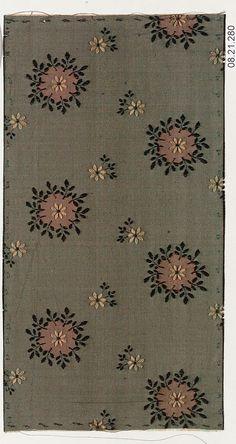Designer Unknown Date: ca. 1900 Medium: Silk Classification: Textiles-Woven Credit Line: Rogers Fund, 1908 Textile Patterns, Textile Prints, Textile Design, Fabric Design, Print Patterns, Indian Patterns, Vintage Textiles, Vintage Patterns, Vintage Prints