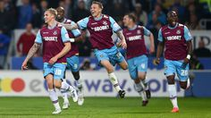 Jack Collison scored twice to give West Ham control of their Championship play-off semi-final after the first leg at Cardiff City. Mary Lou Retton, Cardiff City, West Ham, Semi Final, Soccer Players, Espn, Wrestling, Football, Running