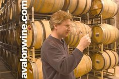 I found my dad on pinterest! creepers in the world  Owen Roe owner and winemaker David O'Reilly in the winery tasting barrel samples