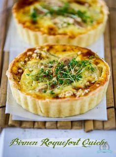 Mini Birnen Roquefort Quiche - Das Küchengeflüster
