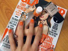 Orange french manicure