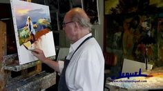"""01-Demonstration of knife painting by Christian Jequel: """"Harvest"""" - YouTube"""