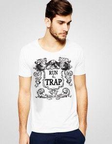 Run The Trap T-shirt T Shirty, Man Fashion, Running, Mens Tops, Shopping, Moda Masculina, Keep Running, Why I Run, Fashion Men