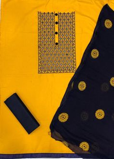 RATE - Rs 550 + Shipping extra KRITVA DESIGN NAME: BLUEBERRY NEW BOUTIQUE COLLECTION FOR THIS SEASON FABRIC DETAIL TOP- SLUB COTTON WITH WORK(1.90 MTR) BOTTOM - COTTON (2.00 MTR) DUPATTA- NAZMIN WITH WORK (2.10MTR LENGTH)