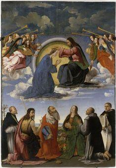 Coronation of the Virgin / Le Couronnement de la Vierge avec six saints // s. XVI // Ridolfo Ghirlandaio // Avignon, musée du Petit Palais