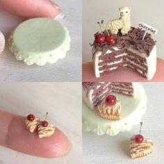 こちらは新メンバーのアルパカさん。  #ミニチュアフード#ミニチュア#ドールハウス#ハンドメイド#樹脂粘土#粘土#minne#miniaturefood #dollhouse #miniature #handmade