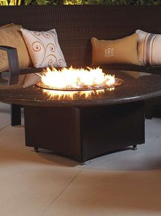 With colder weather approaching, the Oriflamme Fire Table with Swirl Burner is sure to become the focal point of your outdoor space as well as a warm place to enjoy the company of your guests.