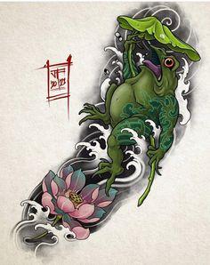 Bio Organic Tattoo, Filigree Tattoo, Manga Tattoo, Asian Tattoos, Japanese Tattoo Designs, Japan Tattoo, Oriental Tattoo, Floral Tattoo Design, Samurai Tattoo
