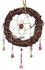 Twilight Dream Catcher--great craft for teens or tweens. Directions and supplies at makingfriends.com