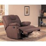 Antoinette Rocker Recliner in Chocolate Finish - Coaster 600350R   SPECIAL PRICE: $443.94