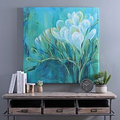 Our Freesia Blue II Canvas Art Print is sure to brighten your home! Canvas Art Prints, Framed Art Prints, Multi Canvas Painting, Blue Canvas Art, Abstract Flowers, Acrylic Art, Painting Inspiration, Flower Art, Watercolor Paintings