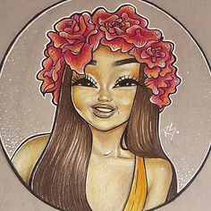A little closer! Gotta get them different angles boo! #art #artist #illustration #work #artwork #instaart #instaartist #fun #happy #cute #disney #flower #colorful #draw #drawing #drawings #beauty #mua #makeup #fashion #style #instamood #fun #inspiration #Godisgoodallthetime