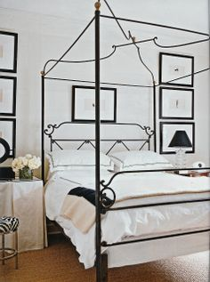 Canopy bed with skirted table Betty Burgess