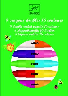 Crayons - Set of 8 Twin Crayons (16 colours)