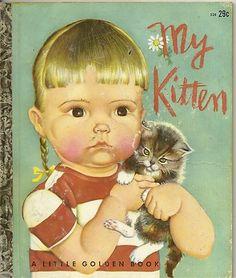 "Eloise Wilkin illustrations, Little Golden Book ""My Kitten"""