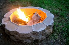 After a year of wanting a fire pit I am happy to say we finally have one. Instead of buying one at Lowe's we decided to make our own. The f...