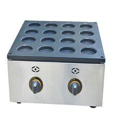 177.65$  Buy here - http://ali2rh.worldwells.pw/go.php?t=32692316152 -  1 PC 16 non-stick aluminum plate hole red bean cake machine gas scone machine Taiwan wheel bread machine 177.65$