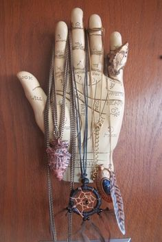 Palmistry and amulets.