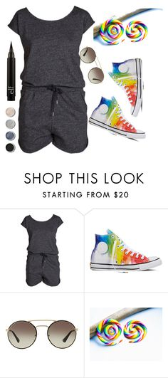"""""""Untitled #101"""" by panaitteo ❤ liked on Polyvore featuring Pieces, Converse, Prada and Terre Mère"""