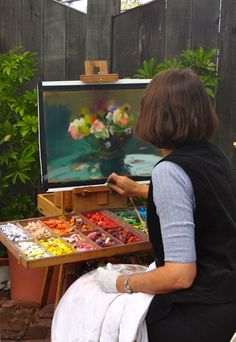 Summerland Cottage Studio: Art in the Garden Party ~ pastel masterpiece by Mary Aslin