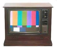 Do you remember when the t.v. looked like this at night when it signed off? I sure do. :)