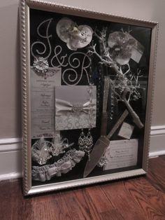Wedding Shadow Box by MagicBeyondMidnight on Etsy, $175.00