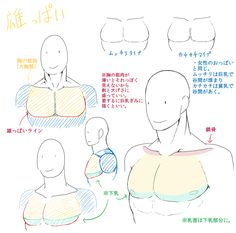 """Muscle tutorial - translation hitsutranslations: """" From シマカワ. The artist describes the tutorial as a simple guide for drawing naturally muscular men for artists who find the complicated anatomy. Body Reference Drawing, Body Drawing, Anatomy Drawing, Anatomy Art, Drawing Base, Anatomy Reference, Art Reference Poses, Drawing Tips, Body Tutorial"""