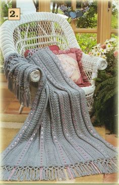 Image detail for -Stone Hill Collectibles - Knit Crochet Afghan Patterns Ribbons Lace ...
