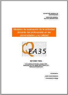 Modelos de evaluación de la actividad docente del profesorado en las universidades y su calidad / @educaciongob | #readytoteach #highereducation