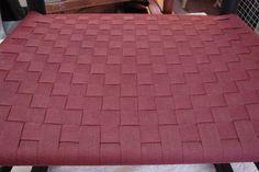 Checkerboard in cranberry Louis Vuitton Damier, Weaving, Patterns, Chair, Bags, Block Prints, Handbags, Stool, Loom Weaving