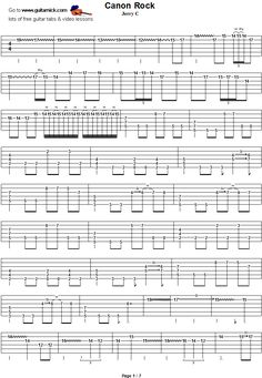 canon in d by pachelbel easy guitar tablature 2 guitare partition guitare tablature. Black Bedroom Furniture Sets. Home Design Ideas
