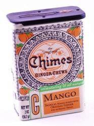 Chimes All Natural Mango Ginger Chews - 2 oz Tin