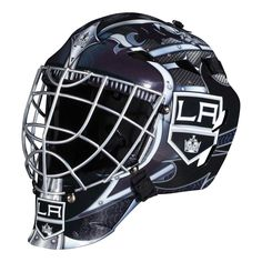 Franklin Sports GFM 1500 NHL Goalie Face Mask - Show off your official NHL colors by playing street hockey in this Franklin Sports GFM 1500 NHL Goalie Face Mask . This goalie face mask comes in your. Hockey Helmet, Hockey Goalie, Ice Hockey, Football Helmets, Hockey Players, Crossover, Nhl, Street Hockey, Steel Cage