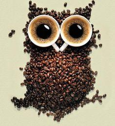 coffee bean and coffee mug owl :)