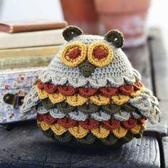 Crochet owl crocodile stitch free pattern download