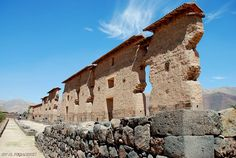 Saw many Incan ruins--this is the Central Wall of Temple of Wiracocha, Raqchi, Peru