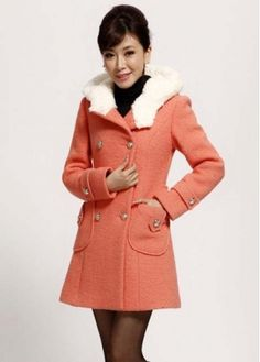 Romantic Pink Shirred Waist Coats with Hooded Collar with cheap wholesale price, buy Romantic Pink Shirred Waist Coats with Hooded Collar at wholesaleitonline.com !