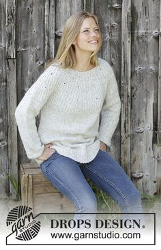 22 Ideas For Crochet Sweater Wrap Pattern Drops Design Baby Knitting Patterns, Jumper Knitting Pattern, Easy Knitting, Knitting Designs, Crochet Poncho, Knitting Sweaters, Drops Design, Laine Drops, Raglan Pullover