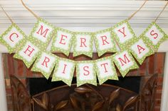"""Here's a free printable """"Merry Christmas"""" banner --all you have to do is like my Facebook page. Directions in the blog post. Thank you!"""