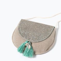 Image 4 of GLITTER TASSEL BAG from Zara