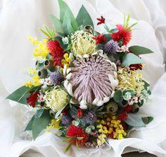 Rustic native flower bouquet.  Bride's bouquet by LaPlumeDeFleur