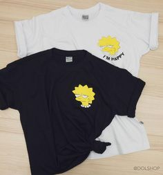 t-shirt lisa simpson Rave Outfits, Cool Outfits, Fashion Outfits, Diy Vetement, Future Clothes, Tee Shirt Designs, Couple Shirts, Aesthetic Clothes, Printed Shirts