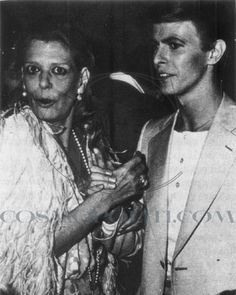 David Bowie & Melina Mercouri in Cannes, 1978 David Bowie, Stone Age Man, Aladdin Sane, The Thin White Duke, Major Tom, Ziggy Stardust, Human Mind, Yesterday And Today, Old Photos