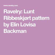 Ravelry: Lunt Ribbeskjørt pattern by Elin Lovisa Backman