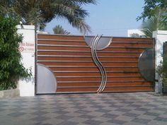 Buy stainless steel Gate In Dubai Sharjah online. Sold by Al Diplomacy Metalic Const. Home Gate Design, Gate Wall Design, Front Wall Design, Grill Gate Design, House Main Gates Design, Steel Gate Design, Iron Gate Design, Main Door Design, Entrance Design